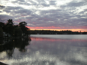 Lake Attitash at sunset